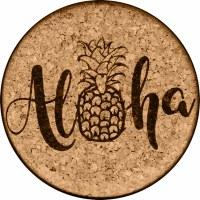 Cork Coaster Aloha Pineapple