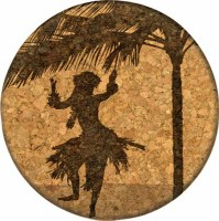 Cork Coaster Hula Live On