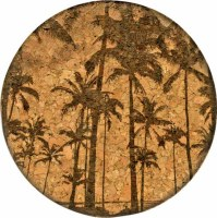 Cork Coaster Tropical State of Mind