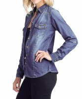Top Chambray Denim Dark MED