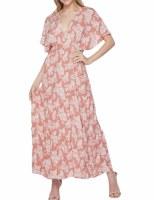 Dress Leaf Blush Maxi LG