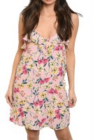 Dress Cami Ruffle Floral Pink