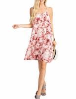 Terracotta Print Midi Dress LG