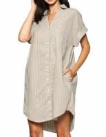 Shirt Dress Tan LG