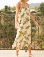 Dress Tropical Print Maxi
