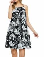 Floral Black Dress SM