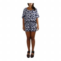 Romper Lani Palm Navy