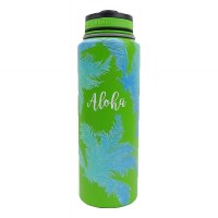 40oz Vacuum Insulated Flask Coconut Trees Ombre Lime