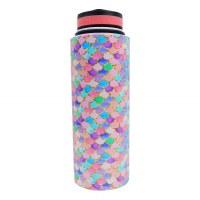 40oz Vacuum Insulated Flask Mermaid Scales Pink