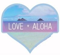 Kailua Sticker Love and Aloha Mokulua Lanikai