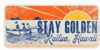 Kailua Sticker Stay Golden Outrigger Paddlers Mokulua Lanikai