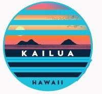 Kailua Sticker Stripes Mokulua Lanikai