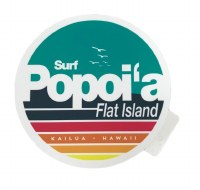 Surf Flat Island Sticker