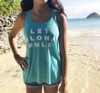 Aloha Rule Tank Teal Small