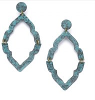 Fair Trade Earring Ashram Window Teal