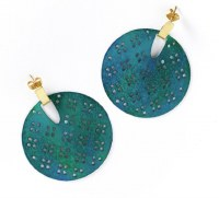 Fair Trade Earring Chameli Teal