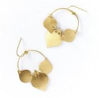 Fair Trade Earring Chameli Gold Leaf