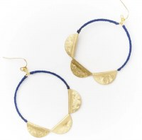 Fair Trade Earring Jayanti Indigo Charm