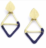 Fair Trade Earring Kaia Diamond Navy