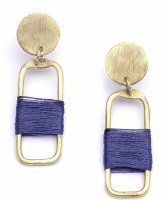 Fair Trade Earring Kaia Link Navy