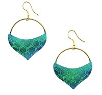 Fair Trade Earring Mermaid Tail Teal