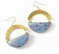Fair Trade Earring Ria Multi Swirl