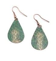 Fair Trade Earring Scallop Patina