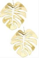 Earring Monstera Shape Gold