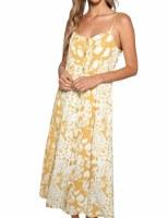 Dress Midi Mustard Print MED