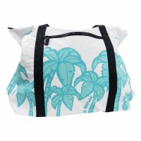 Plastic Free Hawaii Zippered Tote White