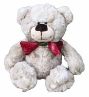"Upcycled Bow Tie Bear 10"""