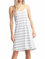Stripe Dress Grey Ivory SM