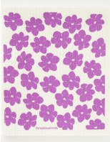 Swedish Dishcloth Purp Poppies