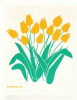 Swedish Dishcloth Yell Tulips