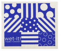 Swedish Cloth Dots and Stripes Blue