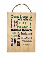Kailua Surf Spots Sign 5x7