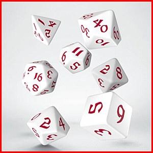 Q-Workshop Classic Runic White & Red Dice Set (7)