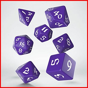 Q-Workshop Classic Runic Purple & White Dice Set (7)