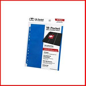 Ultimate Guard : 18-Pocket Pages Side Loading : Blue (10)