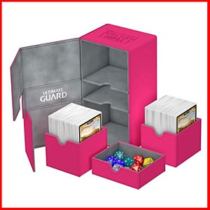 Ultimate Guard : TwinFlip Tray : 200+ Cards : Pink