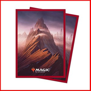 Magic the Gathering Unstable Lands : Mountain Sleeves 100ct