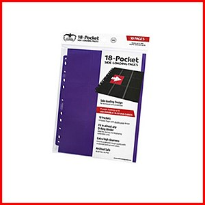 Ultimate Guard : 18-Pocket Pages Side Loading : Purple (10)