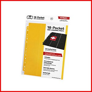 Ultimate Guard : 18-Pocket Pages Side Loading : Yellow (10)