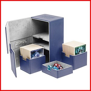 Ultimate Guard : TwinFlip Tray : 200+ Cards : Blue