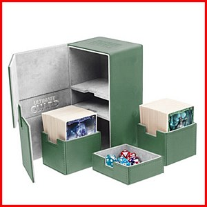 Ultimate Guard : TwinFlip Tray : 200+ Cards : Green