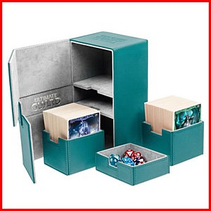 Ultimate Guard : TwinFlip Tray : 200+ Cards : Petrol Blue