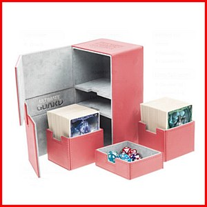 Ultimate Guard : TwinFlip Tray : 200+ Cards : Red