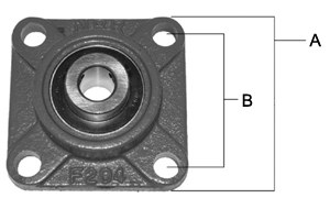"Bearing 4 Bolt Flange 1/4"" Bore"