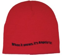 Hat Knit Red When It Snows