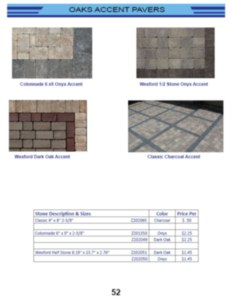Oaks Accent Pavers
